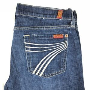 7 For All Mankind Dojo Flared Jeans Size 29